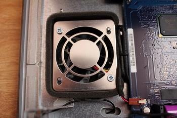 Wentylator w bocznej ściance po wymianie