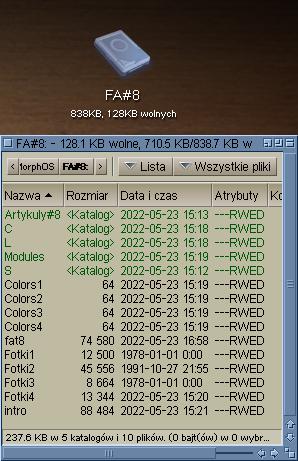 Plik ADF zamontowany w systemie